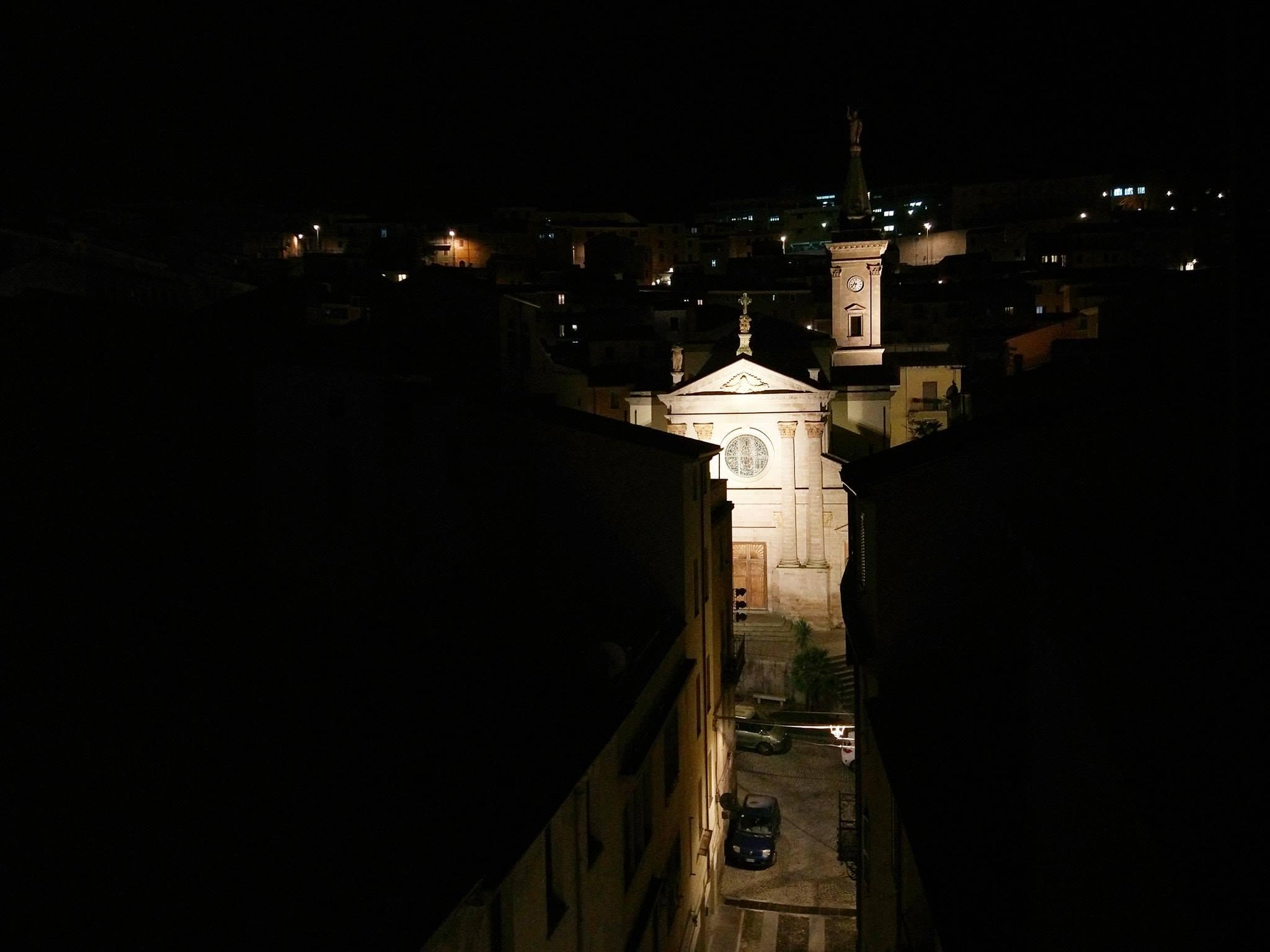 Ozieri di notte - foto di Maria Vittoria Periccu